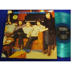 CROSBY STILLS NASH AND YOUNG Long Time Gone (Swingin' Pig TSP 032-2) Luxembourg 2 LP-Set / Blue vinyl / M-/M-