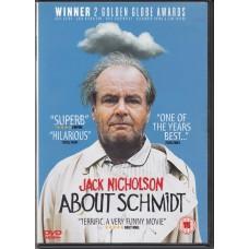 ABOUT SCHMIDT - 2002 movie with Jack Nicholson DVD