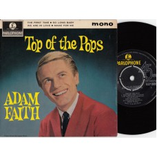 ADAM FAITH The First Time +3 (Parlophone GEP 8893) UK 1963 PS EP