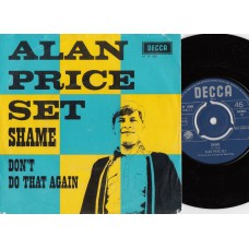 ALAN PRICE SET Shame / Don't Do That Again (Decca AT 15085) Holland 1967 PS 45