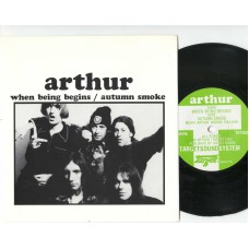ARTHUR When Being Begins / Autumn Smoke (Target TGT 008) UK 1992 PS 45