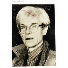 ANDY WARHOL Photo (Autographed) Offer.