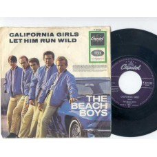 BEACH BOYS California Girls / Let Him Run Wild (Capitol 23028) Germany 1965 PS 45