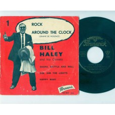 BILL HALEY AND HIS COMETS Rock Around The Clock +3 (Brunswick 10027) France PS EP