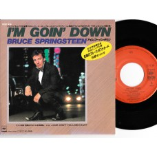 BRUCE SPRINGSTEEN I'm Going Down (CBS) Japan PS Promo 45