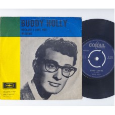 BUDDY HOLLY Because I Love You (Coral) Holland PS 45