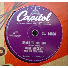 GENE VINCENT & THE BLUE CAPS - Dance To The Hop (Capitol) 78RPM