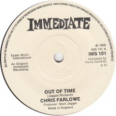 CHRIS FARLOWE Out Of Time / My Way Of Giving (Immediate 101) UK 1966 45