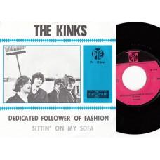 KINKS Dedicated Follower OF Fashion / Sittin' On My Sofa (Pye 7N 17064) Holland blue 1966 PS 45