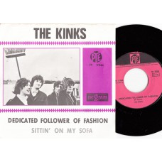 KINKS Dedicated Follower OF Fashion / Sittin' On My Sofa (Pye 7N 17064) Holland Purple 1966 PS 45