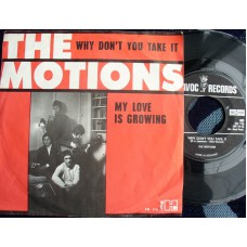 MOTIONS My Love Is Growing / Why Don't You Take It (Havoc 116) Holland PS 45