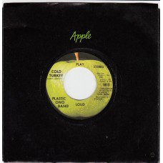 Apple 1813 PLASTIC ONO BAND Cold Turkey USA CS 45