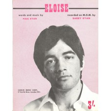 BARRY RYAN Eloise (Sheet Music) UK