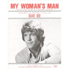 DAVE DEE My Woman's Man (Sheet Music) UK