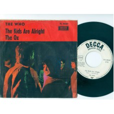 WHO,THE The Kids Are Alright / The Ox (Decca 80007) Germany 1966 PS 45
